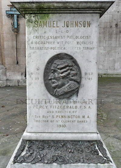 Samuel Johnson. Placa