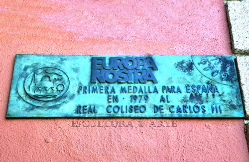 Real Coliseo de Carlos III. Placa