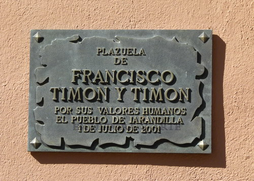 Francisco Timón y Timón. Placa